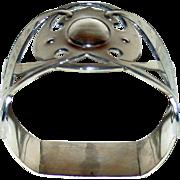 1904 Antique English Sterling Napkin Ring, Hallmarked, Arts & Crafts