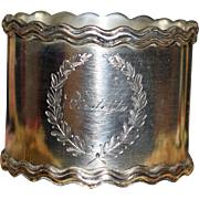 Antique American Sterling Shreve Napkin Ring - Birdetta