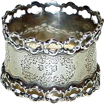 Antique 1856 Sterling French Napkin Ring