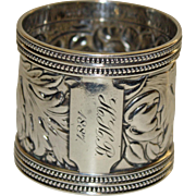 1887 Antique Gorham Sterling Napkin Ring - Majestic, 62.8 grams