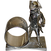 Monkey Dressed in Fine Clothes: Antique Figural Napkin Ring, Toronto Silver Plate Co.