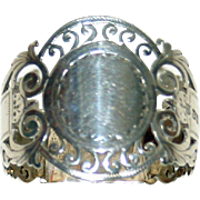Antique Reticulated Sterling Napkin Ring (1910)