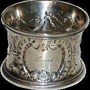Antique American Coin Silver Napkin Ring - Seward