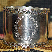 Antique Shreve Sterling Napkin Ring - Name Birdetta