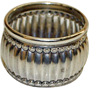 1886 Antique Tiffany Sterling Silver Ribbed Napkin Ring, 64.2 Grams