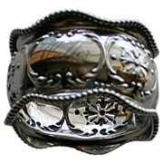 Antique (1896) Gorham Sterling Napkin Ring, Christmas