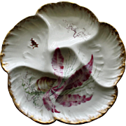 Antique French Charles Field Haviland Limoges Oyster Plate