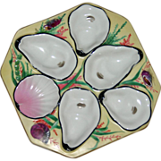 Antique Limoges Octagonal Oyster Plate with Nautical Designs by Oscar Gutherz