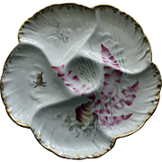 Haviland Limoges Antique Oyster Plate, Seaweed Design