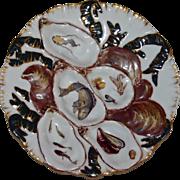 Antique Limoges Turkey Oyster Plate
