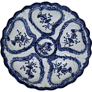 Antique German Blue and White Oyster Plate Marked Weimar