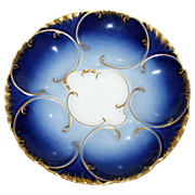 Antique Cobalt Haviland Oyster Plate 1888-1896