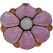 Rare Form Pink Antique Oyster Plate