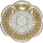 Vintage Limoges Bernardaud Oyster Plate, Higgins & Seiter New York Mark on Back