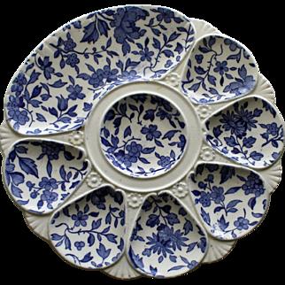 Antique Minton Oyster Plate: Dorset Pattern, 1877 - Rare