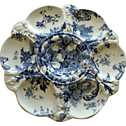 Antique Transferware Oyster Plate: Marguerite by Royal Staffordshire Pottery, Burslem, England