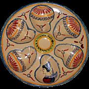 Vintage Henriot Quimper Oyster Plate