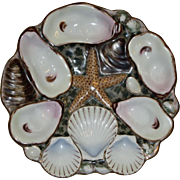 Antique Oyster Plate with Starfish in Center