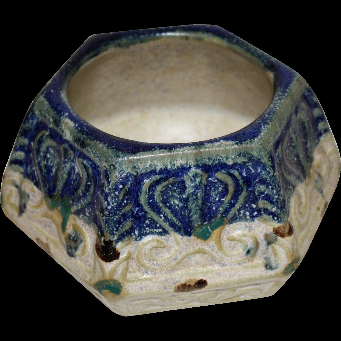 Chinese Antique Stoneware Hexagonal Pot