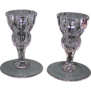 Pair Waterford Marquis Crystal Candlesticks (Candle Holders)
