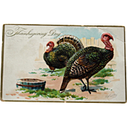 Antique Thanksgiving Tuck's Posrcard, Artist Signed
