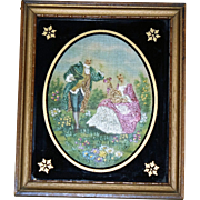 Framed Embroidery, Classical Scene
