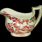 Antique English Chinoiserie Staffordshire Polychrome Creamer