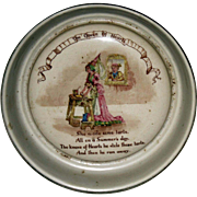 Queen of Hearts - Antique Child's Dish