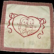 Vintage Redwork Babies