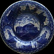 Antique Richmond, Virginia, Souvenir Plate, Dark Blue, c. 1900