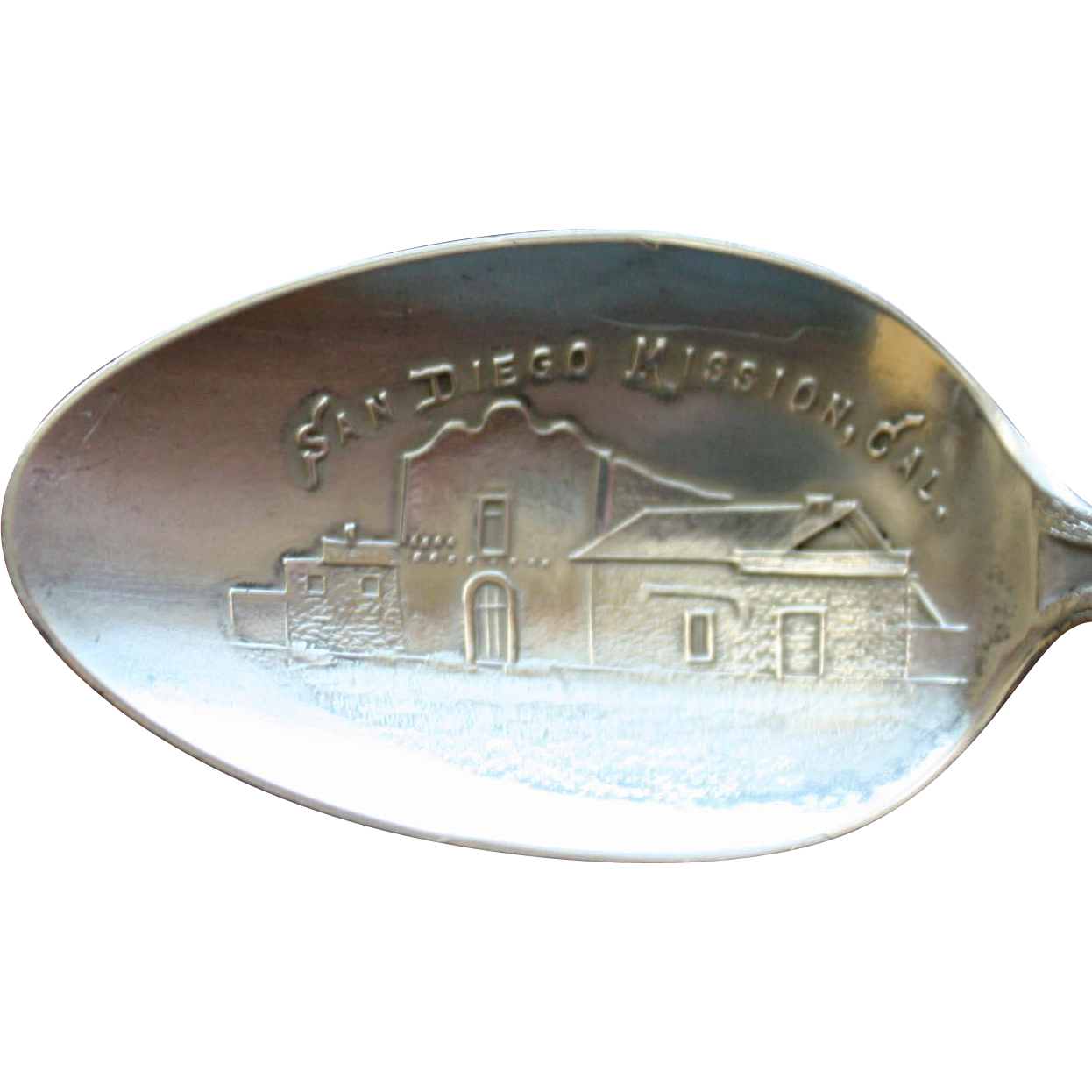 San Diego Mission, California, Antique Sterling Souvenir Spoon