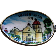 San Luis Rey Mission Enameled Spoon