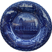 Sherbrooke, Quebec Dark Blue Plate by Rowland & Marsellus Vintage