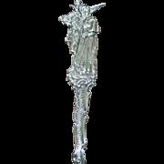 Plymouth, MA., Antique Figural Sterling Souvenir Spoon: John Alden & Priscilla