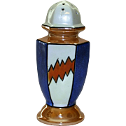 Art Deco Luster Ware Sugar Shaker, Made in Japan, Hand Painted