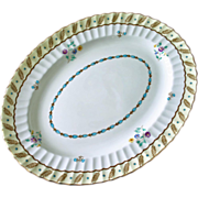 "English Royal Worcester Platter in ""Surrey"" Pattern, Hand Painted and Enameled"