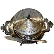 Silverplate Butter Dish by Taunton