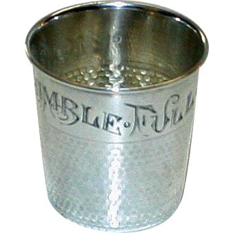 """Only a Thimble Full"" Sterling 2 Ounce Shot by Webster"