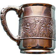 c.1880 Tiffany Antique Sterling Silver Mug, Children's Parade