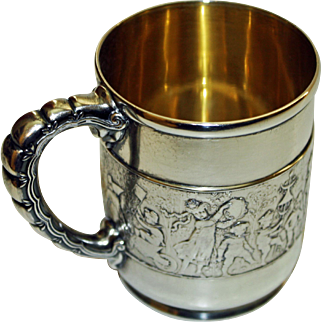 Tiffany Sterling Children's Parade Antique Mug or Cup - Stunning