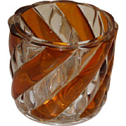 French St. Louis Crystal Swirl Votive