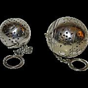 Two Vintage Silver Tea Balls