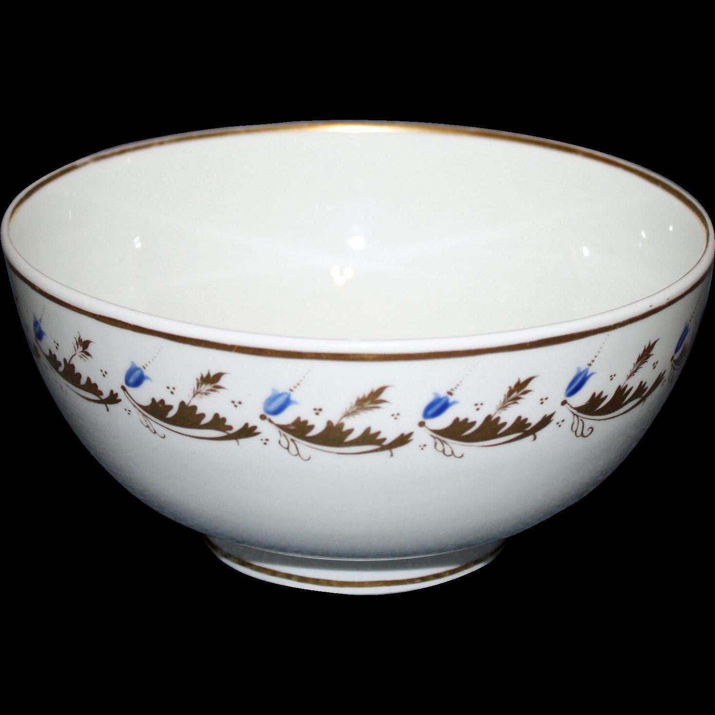 c. 1830 Bloor Derby Waste Bowl, Over- Glaze Gilding and Enamel
