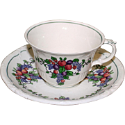 "Wedgwood Cup and Saucer in California ""Earth"" Pattern"