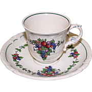 "Wedgwood Demitasse Cup and Saucer in California ""Earth"" Pattern"