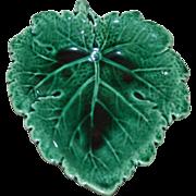 Wedgwood Majolica Green Leaf Shaped Dish