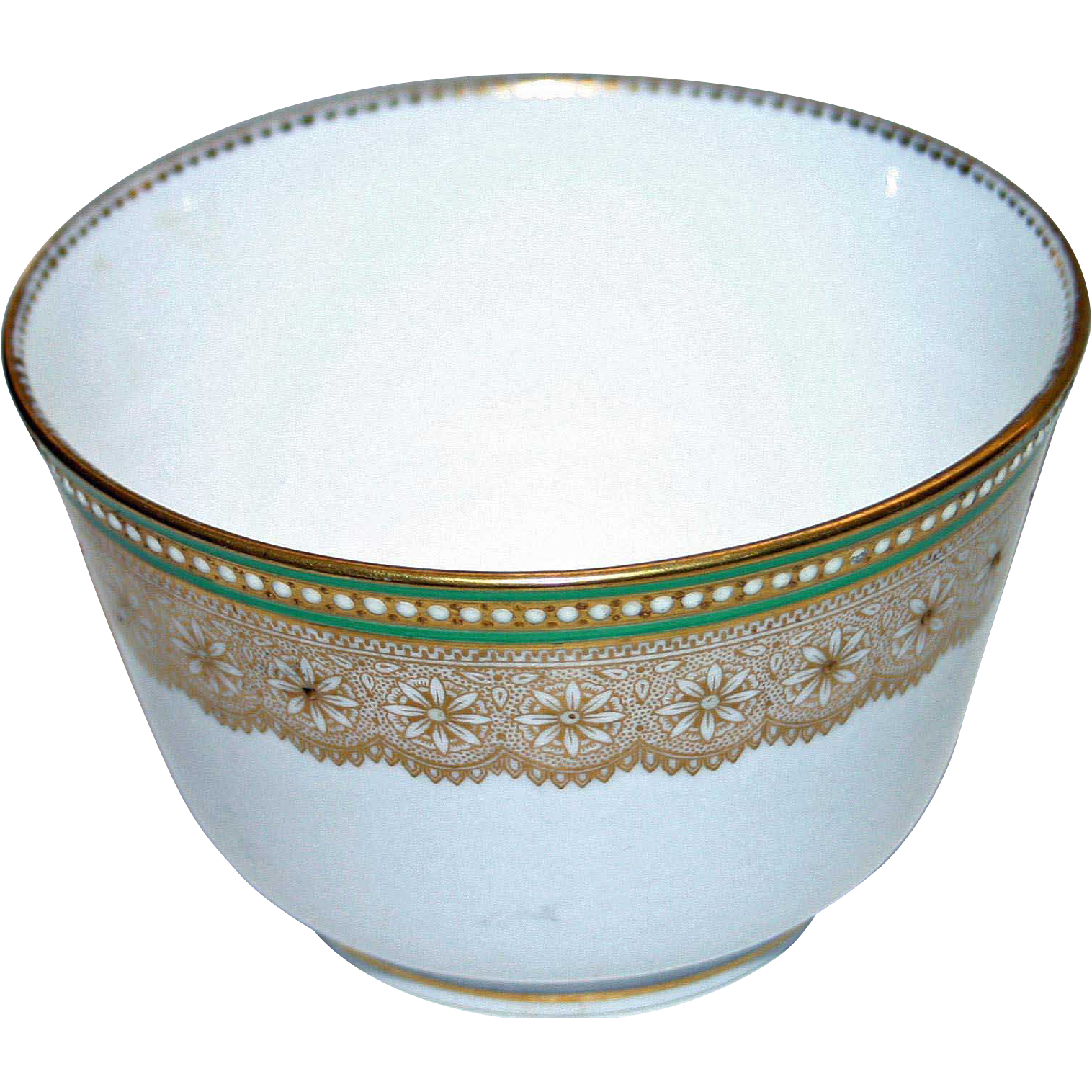 Royal Worcester Bowl with Raised Decoration and Enameling