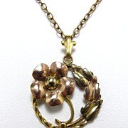 Pretty Cellini craft Gold Filled Pendant and Necklace