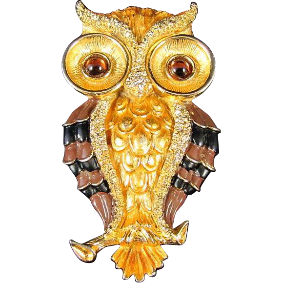 Fantastic Jonette Jewelry JJ Large Owl Pendant