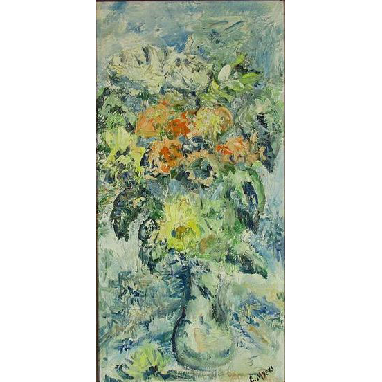 Edna Myers (1917-) Floral Still Life Painting by Canadian Artist